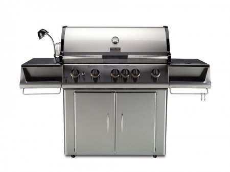 Cheapest Price! Vermont Castings 525 Signature Series VCS525SSP Freestanding Liquid Propane Grill with 5 Burners 102500 Total BTUs Side Burner Rotisserie Burner Grill Light in Stainless