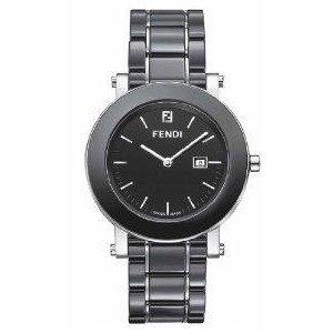 腕時計 Fendi Ceramic Round Watch/Black - Black【並行輸入品】