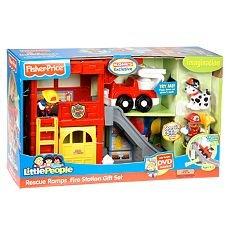 Buy Low Price Mattel Fisher Price Little People Rescue Ramps Fire Station with DVD and Exclusive Figures (B002UV4V4S)