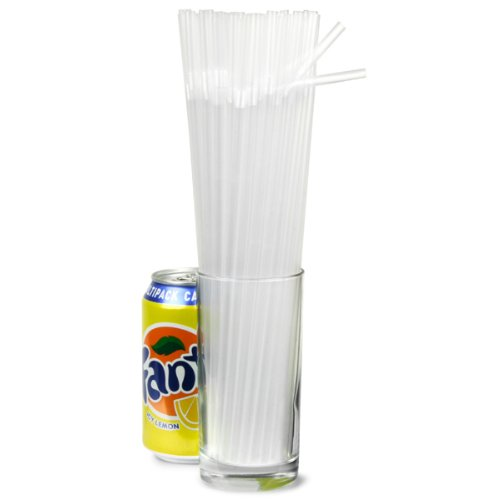 Alcopop Bendy Straws 10.5inch Clear - Box of 250 | Bottle Straws, Disposable Straws