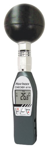 General Tools WBGT8778 Deluxe Heat Index Monitor with Wet Bulb Globe Temperature, 75mm Black Ball - 1