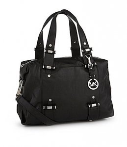 Michael Kors Gibson Satchel in Black