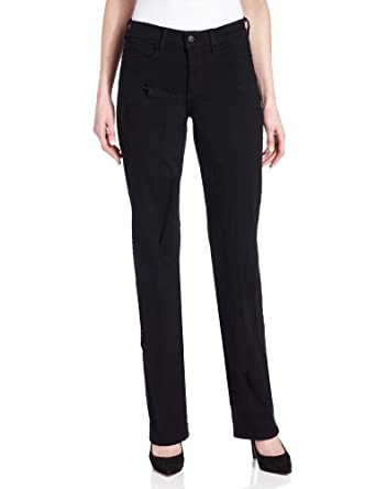 NYDJ Women's Marilyn Straight Leg Jean, Black, 0