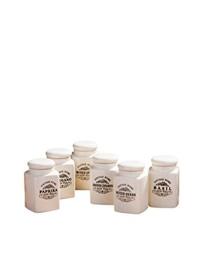 Premier Housewares box set van 6 natuurlijk wit