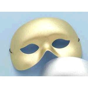 Half Mask - Gold Cocktail Accessory - 1
