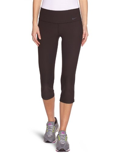 Nike Lady Legend Slim Poly Capri Running Tights - Medium - Black