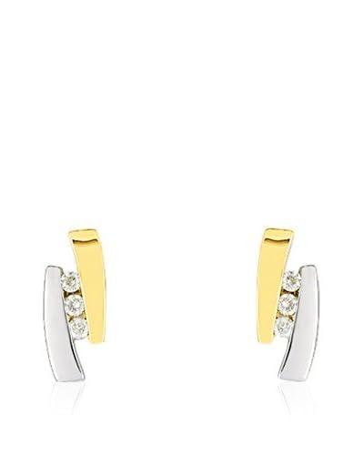 Bijoux pour tous Pendientes oro bicolor 18 ct