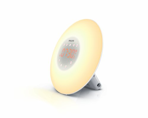Philips HF3505/60 Wake-Up Light with Radio, White