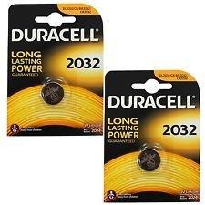 """ENVOI AVEC SUIVI DURACELL Lot de 2 pile bouton lithium """"Electronics"""", CR2032"""
