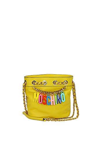 Umhängetasche Moschino Damen Leder Gelb und Mehrfarben 2A749380011027 Gelb 14x19x20 cm thumbnail