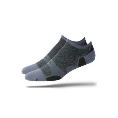 Buy Low Price DeFeet Levitator Lite NoSeeUm Black/ Grey Cycling/Running Socks – LLNBKG (B000NOYRC0)