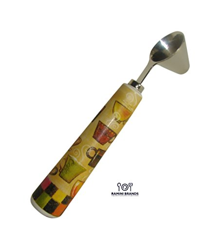 Review Of Coffee Scoop With Ceramic Handle - Bonus Coffee and Tea Recipes - Cone Shaped Scooper - Gi...