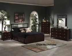 Hillsdale Tiburon Kona Bedroom Set Storage Bed - 4 Pc. Queen Size