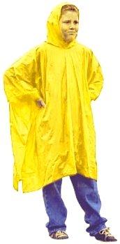 4 Pack - Must Have Item! Children's Emergency Rain Poncho Coat Rainwear w/ Hood & Sleeve - Yellow