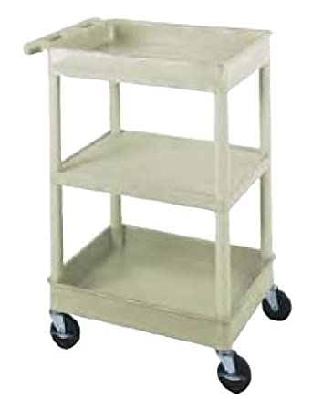 plastic utility cart 3 shelves 18 x 24 x 38. Black Bedroom Furniture Sets. Home Design Ideas