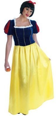 Snow White Long Dress. Adult Fancy Dress Costume. Sizes S to XL