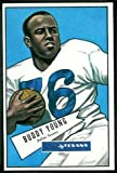1952 Bowman Regular (Football) Card# 104 Buddy Young of the Dallas Texans Ex Condition