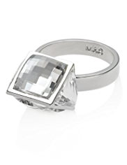 Autograph Multi-Faceted Cut Ring MADE WITH SWAROVSKI® ELEMENTS