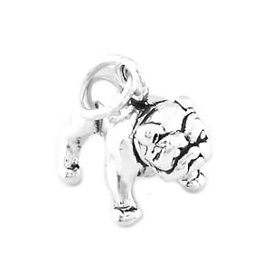 Silver 3d Bulldog Charm- Sterling Silver