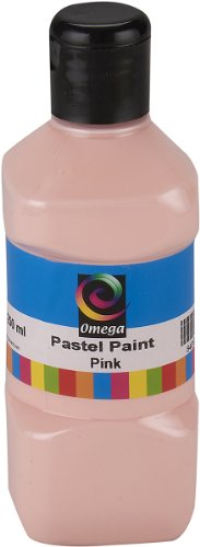 Omega Pastel Paint, 250ml, Pink - 1