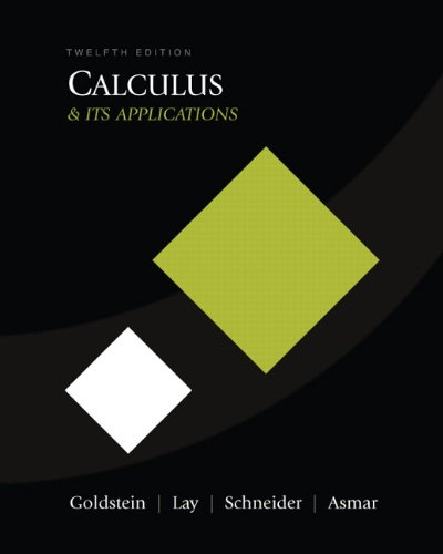 Calculus and Its Applications (12th Edition)