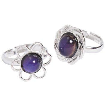 Flower Mood Rings - Novelty Jewelry & Rings
