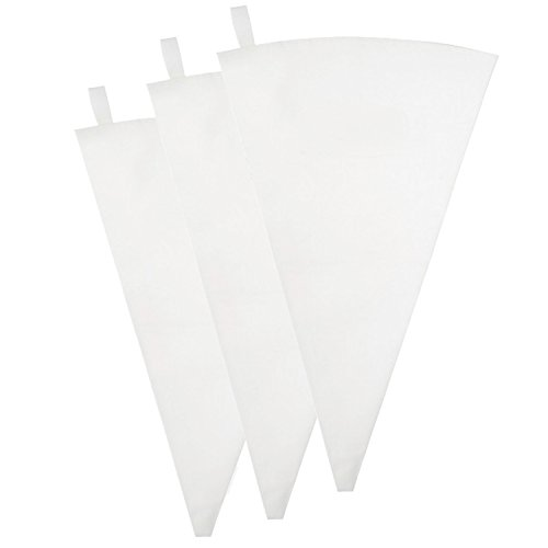 Pridebit Pastry Bag 3 Pack (18-Inch) Reusable Cotton Decorating Icing Bags Set Large Piping Bags