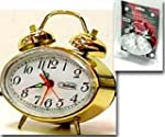WELLSON 862 GLD Wind-up Alarm Clock S...