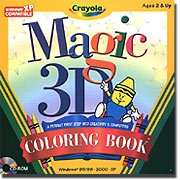 """Crayola Magic 3D """"First Step"""" Coloring Book front-115312"""