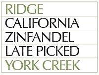 Ridge Zinfandel York Creek 2008 750Ml