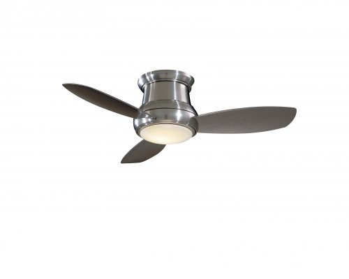 Minka-Aire F519-BN 52-inch Concept II Flush Mount Ceiling Fan, Brushed Nickel with Silver Blades