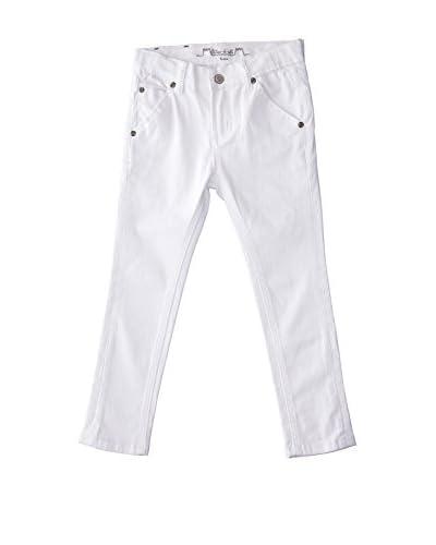 Château de Sable Vaquero Hugo Boy Slim Cut Pants White