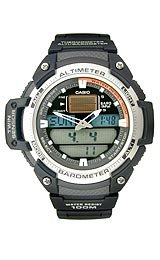 Casio Sports Gear Twin Sensor Altimeter/Barometer Thermometer Grey Dial Men's watch #SGW400H-1B