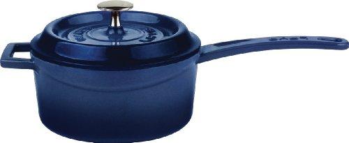 Lava Signature Enameled Cast-Iron 1 Quart Sauce Pan with Iron Handle,  Cobalt Blue (1quart Cast Iron Pot compare prices)