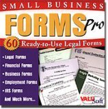 Small Business Forms Pro 60 Ready to Use Legal Forms