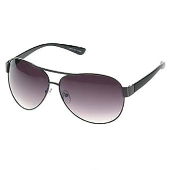 HOTLOVE Eyewear® Premium Sunglasses UV400 Lens Technology - Unisex 6203 Black Frame Fashion Aviator w Black Gradient - Perfectly Match Everyday Apparel for Women & Men