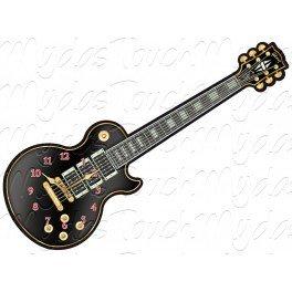GIBSON-Gitarre-Uhr-schwarz