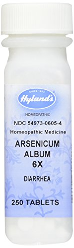 Hyland's Arsenicum Album 6X Tablets, Natural Homeopathic Diarrhea Relief, 250 Count