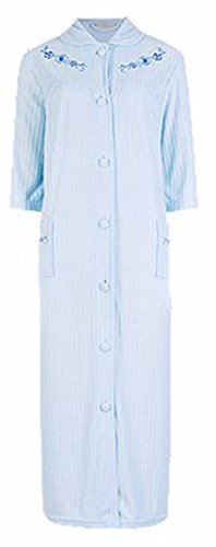 Ladies Famous Make Light Towelling Dressing Gown. Blue. Short or Standard Length. Sizes 8-10 12-14 16-18 20-22 (20-22 STD)