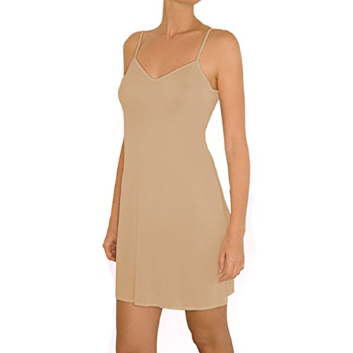 Anemone Women's Non-Cling Silky Smooth Full Slip – Nude – Medium