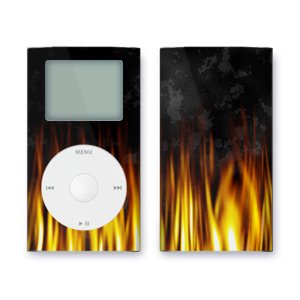 BBQ Design iPod mini Protective Decal Skin Sticker