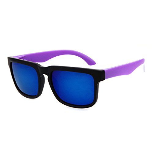 LOMOL Trendy Fashion Young People Personality Colorful UV400 Protection Beach Sunglasses(C1) (Type Z Shoes Men compare prices)