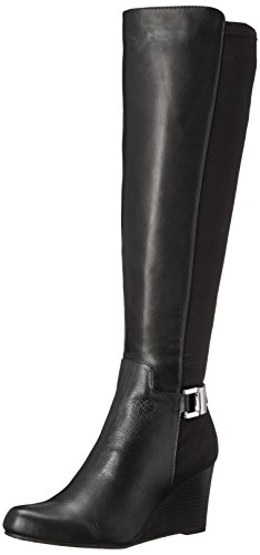 Calvin Klein Women'S Sama Engineer Boot, Black Wide Calf, 8 M Us