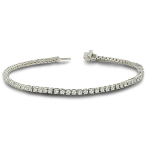 2 Carat Diamond Round Setting Tennis Bracelet