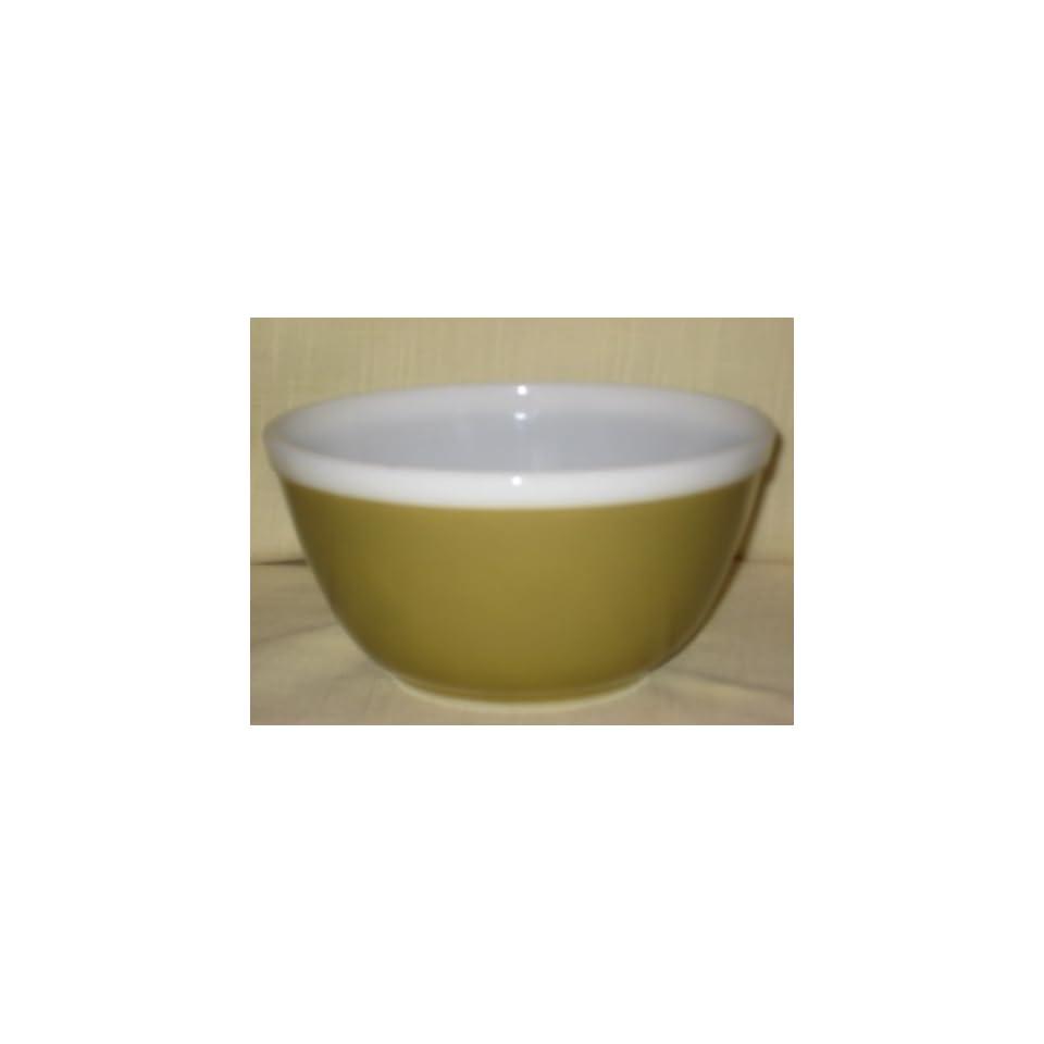 Vintage 1966 Pyrex  Americana  Olive Brown w/ White Band 1 1/2 Quart Mixing Nesting Batter Bowl #402