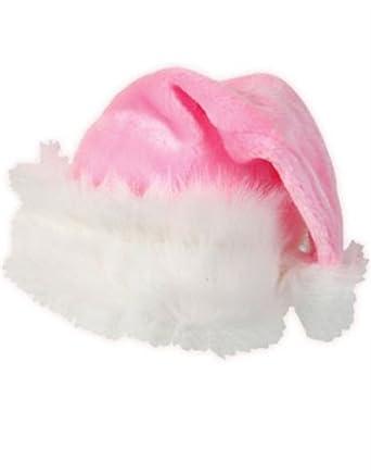 Pink Thick Plush Santa Hat