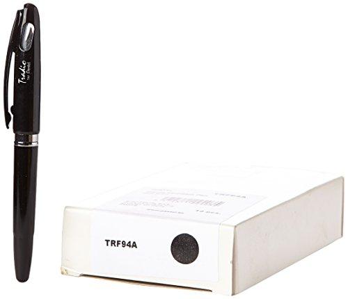 pentel-tradio-confezione-di-12-penne-stilografica-ricaricabile-inchiostro-blu-corpo-vernice-nero