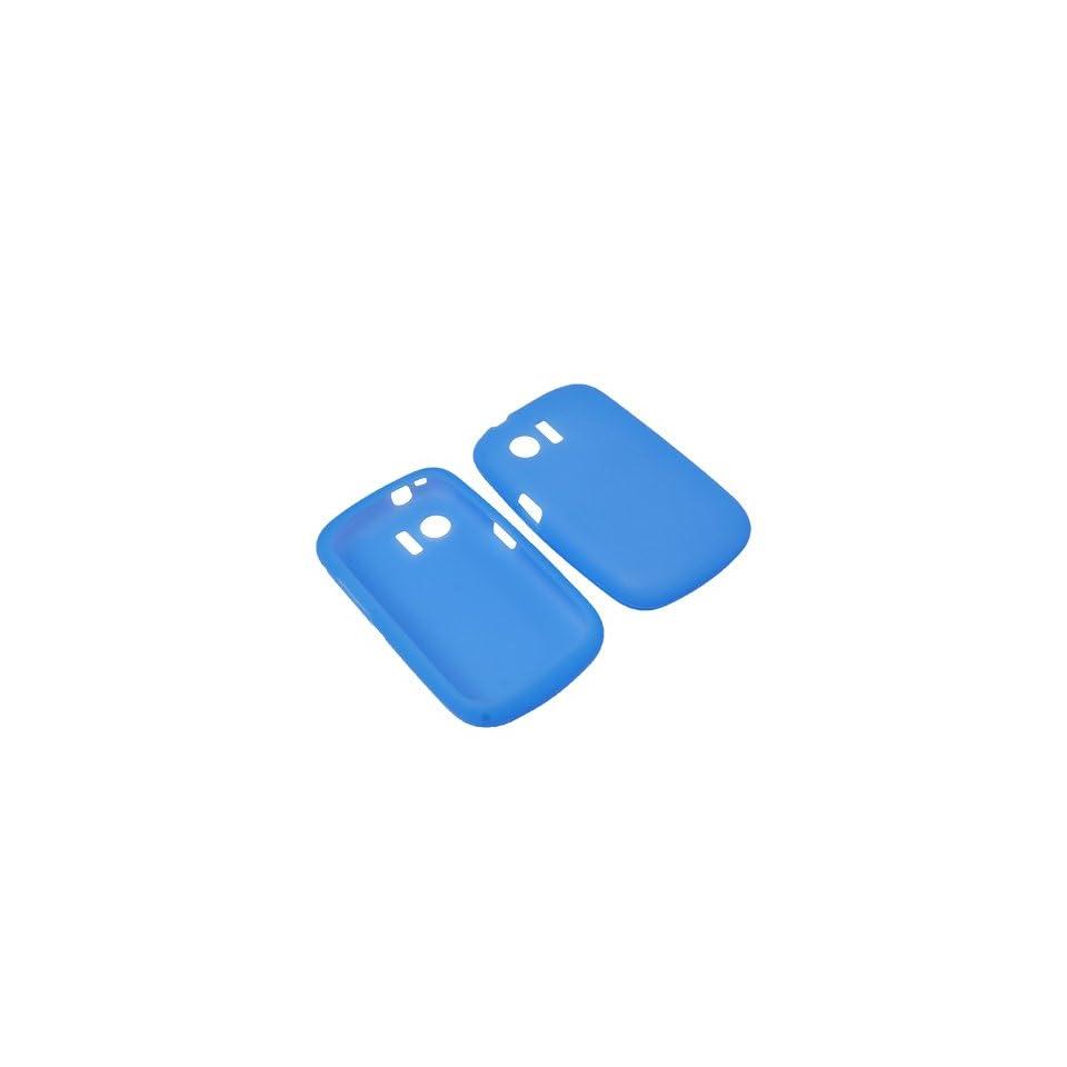 Eagle Soft Sleeve Gel Cover Skin Case for Cricket Huawei Pillar M615  Blue