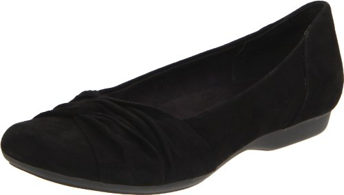 Clarks Women's Chateau Manor Flat,Black Suede,6.5 M US