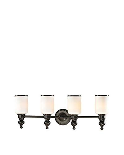 Artistic Lighting Bristol Collection 4-Light LED Bath Bar, Oil Rubbed Bronze